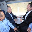 ראש הממשלה, בנימין נתניהו ושר התחבורה והמודיעין, ישראל כץ משיקים את הנסיעה הראשונה של קו הרכבת החדש לכרמיאל
