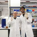 הדוקטורנטים גדיאל סאפר (מימין) ודן קלמן