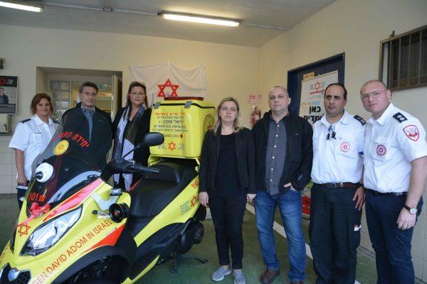 טקס חנוכת אופנוע מדא עש מתנדב מדא דניאל פנקין זל בכרמיאל